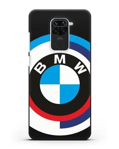 Чехол с логотипом BMW силикон черный для Xiaomi Redmi 10X