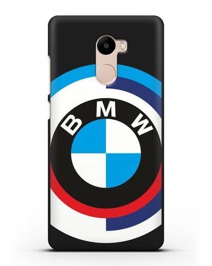 Чехол с логотипом BMW силикон черный для Xiaomi Redmi 4