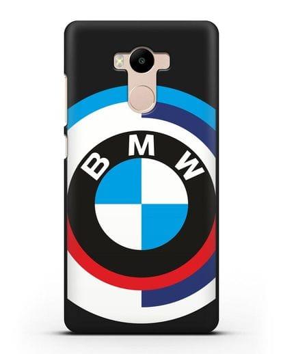 Чехол с логотипом BMW силикон черный для Xiaomi Redmi 4 Pro