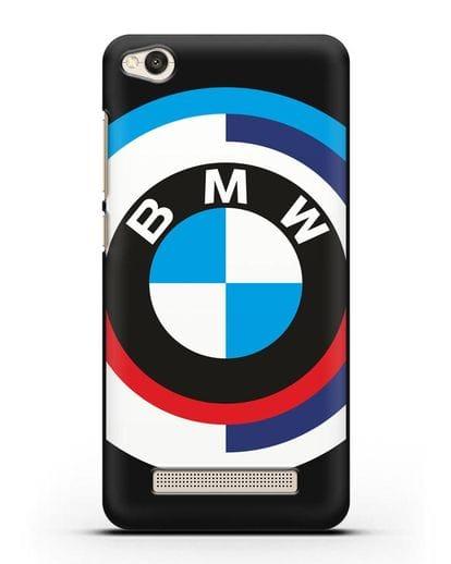 Чехол с логотипом BMW силикон черный для Xiaomi Redmi 4A
