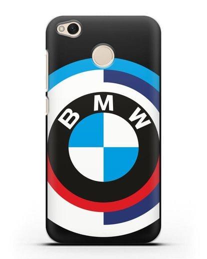 Чехол с логотипом BMW силикон черный для Xiaomi Redmi 4X
