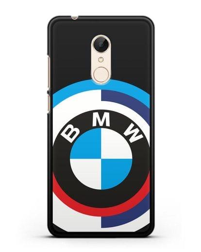 Чехол с логотипом BMW силикон черный для Xiaomi Redmi 5 Plus
