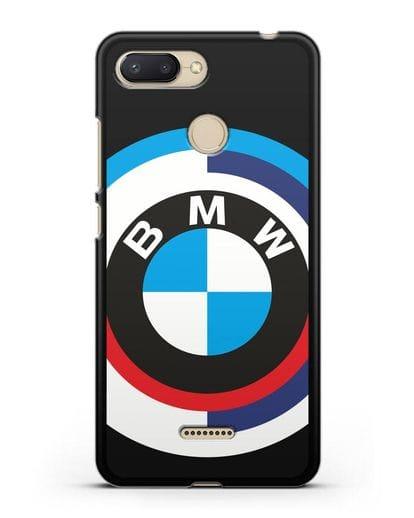 Чехол с логотипом BMW силикон черный для Xiaomi Redmi 6
