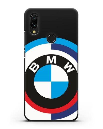 Чехол с логотипом BMW силикон черный для Xiaomi Redmi 7