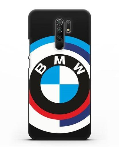 Чехол с логотипом BMW силикон черный для Xiaomi Redmi 9