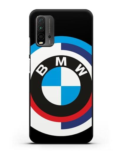 Чехол с логотипом BMW силикон черный для Xiaomi Redmi 9 Power