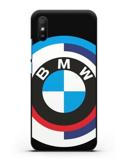 Чехол с логотипом BMW силикон черный для Xiaomi Redmi 9A