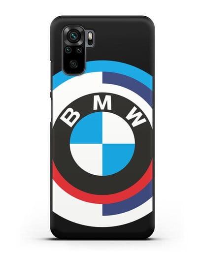 Чехол с логотипом BMW силикон черный для Xiaomi Redmi Note 10
