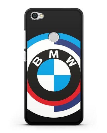 Чехол с логотипом BMW силикон черный для Xiaomi Redmi Note 5A Prime
