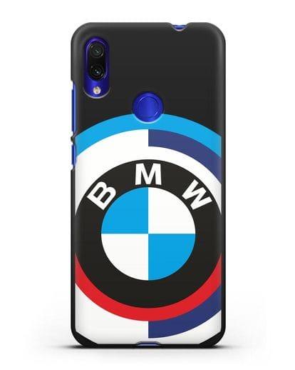 Чехол с логотипом BMW силикон черный для Xiaomi Redmi Note 7