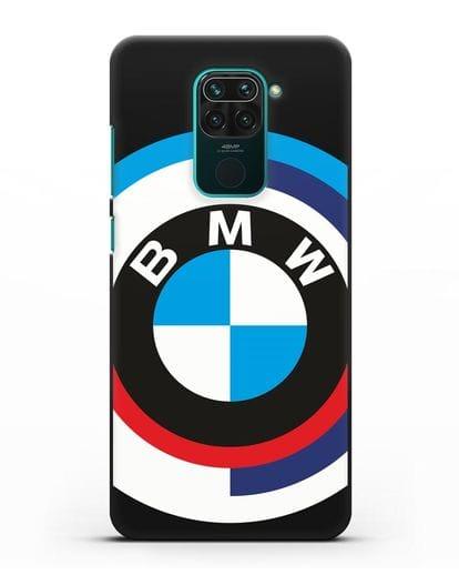 Чехол с логотипом BMW силикон черный для Xiaomi Redmi Note 9