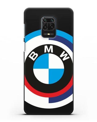Чехол с логотипом BMW силикон черный для Xiaomi Redmi Note 9 Pro