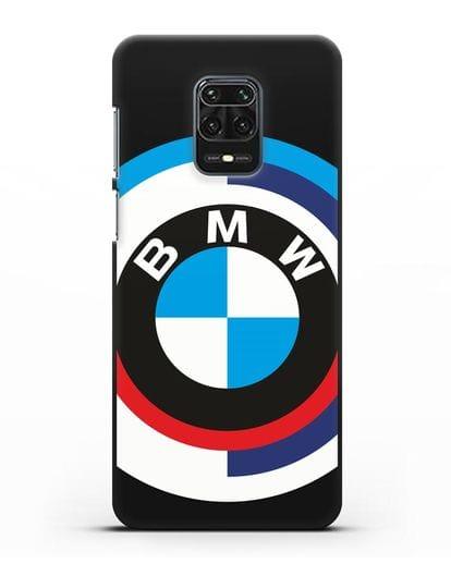 Чехол с логотипом BMW силикон черный для Xiaomi Redmi Note 9S