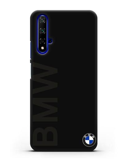 Чехол с надписью BMW и логотипом силикон черный для Honor 20