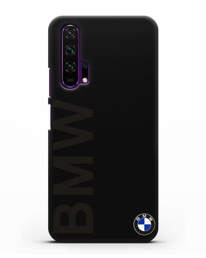 Чехол с надписью BMW и логотипом силикон черный для Honor 20 Pro