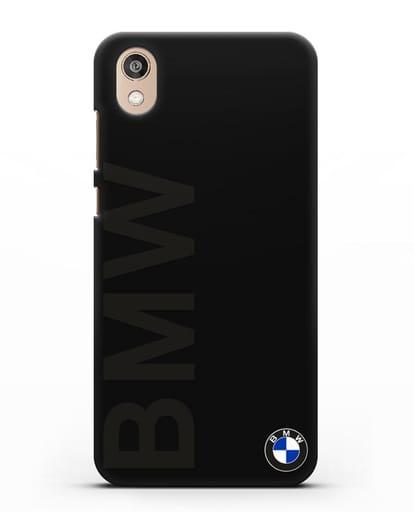 Чехол с надписью BMW и логотипом силикон черный для Honor 8S