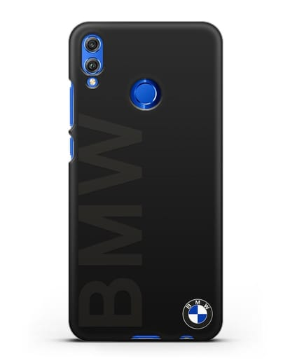Чехол с надписью BMW и логотипом силикон черный для Honor 8X
