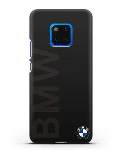 Чехол с надписью BMW и логотипом силикон черный для Huawei Mate 20 Pro