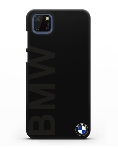 Чехол с надписью BMW и логотипом силикон черный для Huawei Y5P