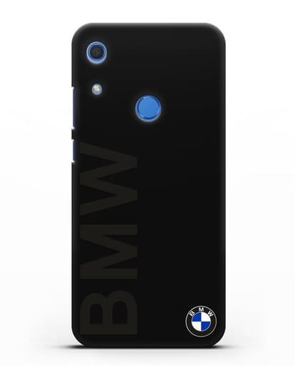 Чехол с надписью BMW и логотипом силикон черный для Huawei Y6s