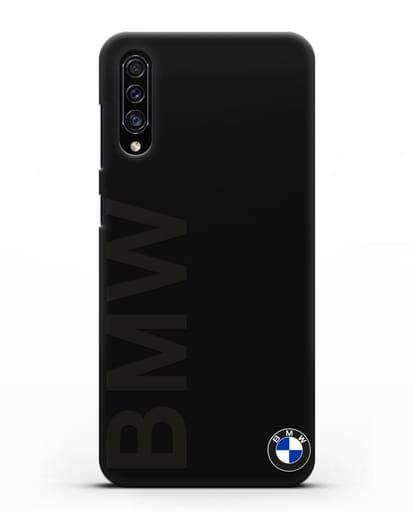 Чехол с надписью BMW и логотипом силикон черный для Samsung Galaxy A30s [SM-A307FN]
