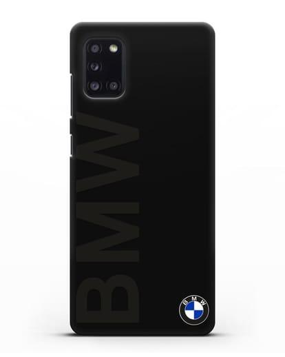 Чехол с надписью BMW и логотипом силикон черный для Samsung Galaxy A31 [SM-A315F]