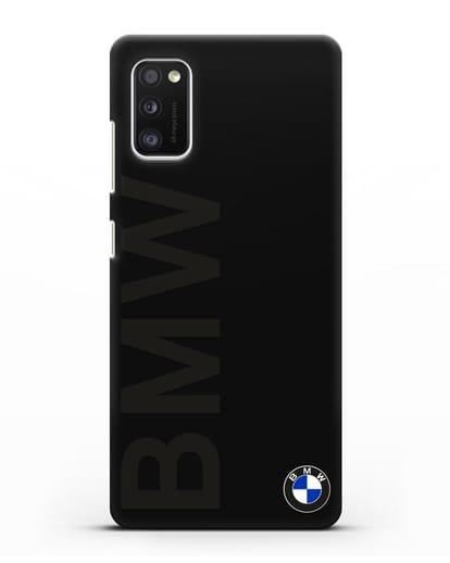 Чехол с надписью BMW и логотипом силикон черный для Samsung Galaxy A41 [SM-A415F]