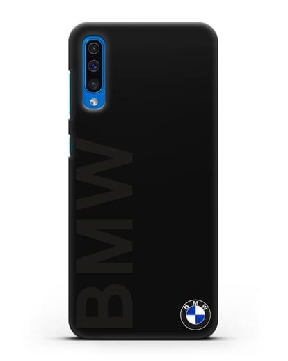 Чехол с надписью BMW и логотипом силикон черный для Samsung Galaxy A50 [SM-A505F]