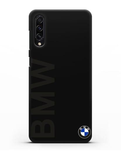 Чехол с надписью BMW и логотипом силикон черный для Samsung Galaxy A50s [SM-F507FN]