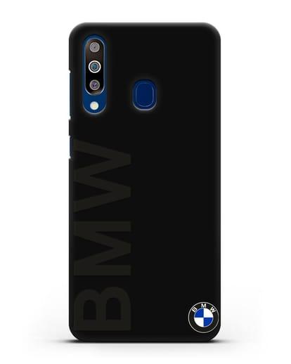 Чехол с надписью BMW и логотипом силикон черный для Samsung Galaxy A60 [SM-A606F]