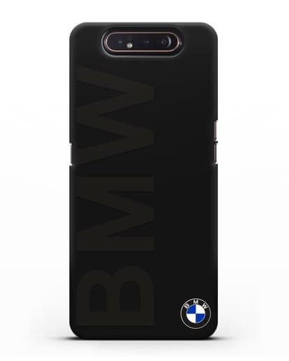 Чехол с надписью BMW и логотипом силикон черный для Samsung Galaxy A80 [SM-A805F]