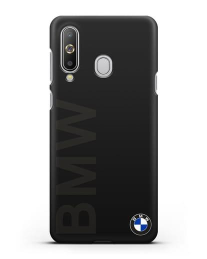 Чехол с надписью BMW и логотипом силикон черный для Samsung Galaxy A8s [SM-G8870]