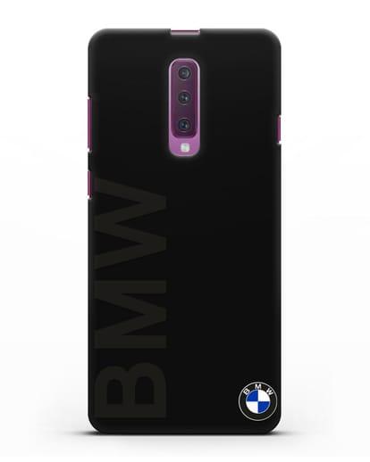 Чехол с надписью BMW и логотипом силикон черный для Samsung Galaxy A90 [SM-A908N]