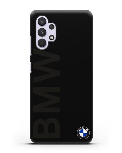 Чехол с надписью BMW и логотипом силикон черный для Samsung Galaxy A32 5G [SM-A326B]