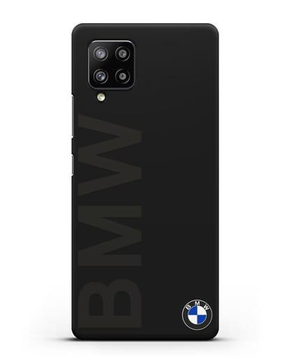 Чехол с надписью BMW и логотипом силикон черный для Samsung Galaxy A42 [SM-A426B]