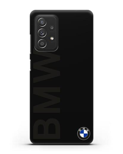 Чехол с надписью BMW и логотипом силикон черный для Samsung Galaxy A52 5G [SM-A5260]
