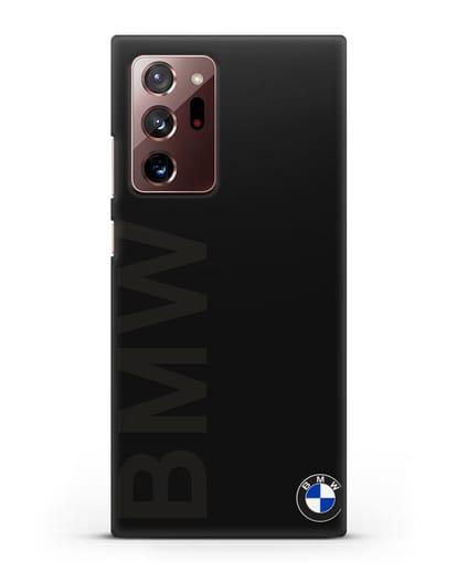 Чехол с надписью BMW и логотипом силикон черный для Samsung Galaxy Note 20 Ultra [SM-N985F]