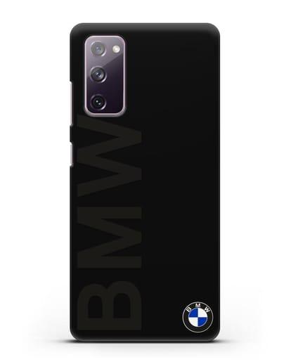 Чехол с надписью BMW и логотипом силикон черный для Samsung Galaxy S20 FE [SM-G780F]