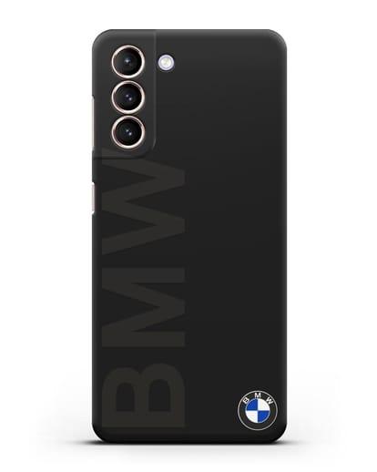 Чехол с надписью BMW и логотипом силикон черный для Samsung Galaxy S21 [SM-G991B]