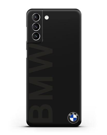 Чехол с надписью BMW и логотипом силикон черный для Samsung Galaxy S21 Plus [SM-G996B]
