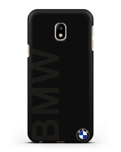 Чехол с надписью BMW и логотипом силикон черный для Samsung Galaxy J3 2017 [SM-J330F]