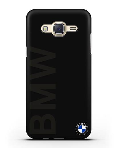 Чехол с надписью BMW и логотипом силикон черный для Samsung Galaxy J5 2015 [SM-J500H]