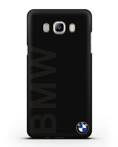Чехол с надписью BMW и логотипом силикон черный для Samsung Galaxy J5 2016 [SM-J510F]
