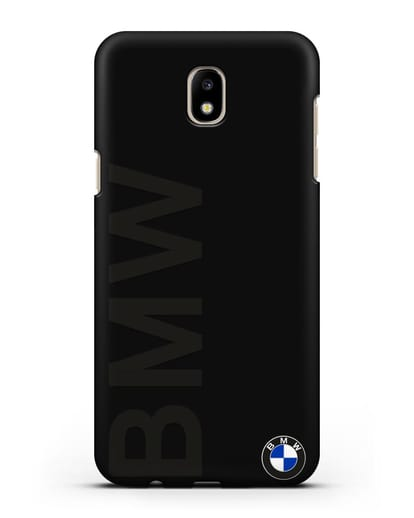 Чехол с надписью BMW и логотипом силикон черный для Samsung Galaxy J5 2017 [SM-J530F]