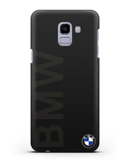 Чехол с надписью BMW и логотипом силикон черный для Samsung Galaxy J6 2018 [SM-J600F]