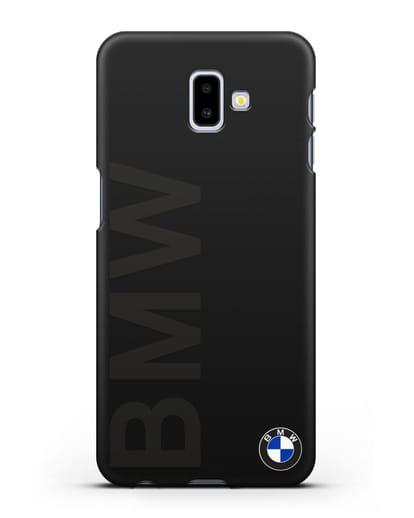 Чехол с надписью BMW и логотипом силикон черный для Samsung Galaxy J6 Plus [SM-J610F]
