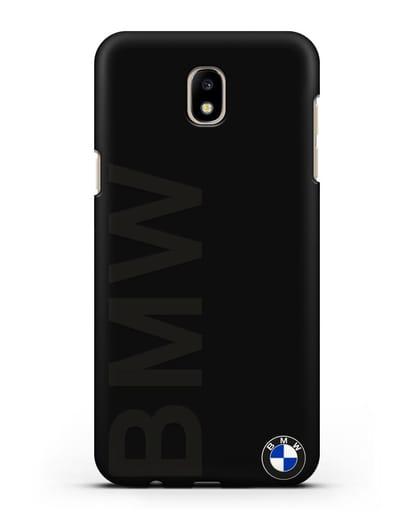Чехол с надписью BMW и логотипом силикон черный для Samsung Galaxy J7 2017 [SM-J720F]