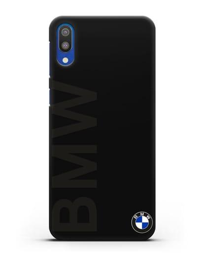 Чехол с надписью BMW и логотипом силикон черный для Samsung Galaxy M10 [SM-M105F]
