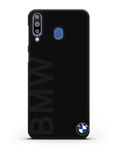 Чехол с надписью BMW и логотипом силикон черный для Samsung Galaxy M30 [SM-M305F]