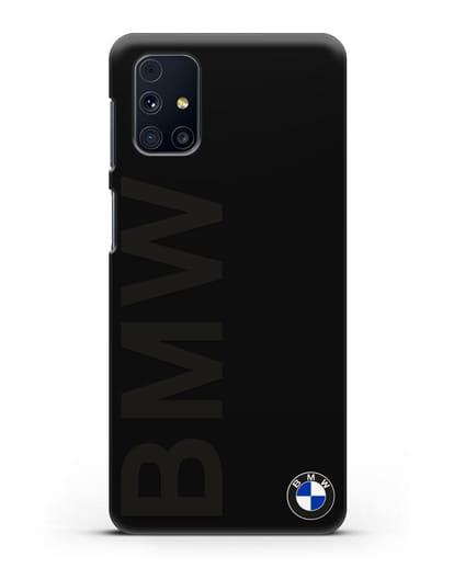 Чехол с надписью BMW и логотипом силикон черный для Samsung Galaxy M31s [SM-M317F]